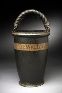 This is a fire bucket purchased by George Washington in 1797. Click on the image to visit this primary source object on the Mount Vernon website.