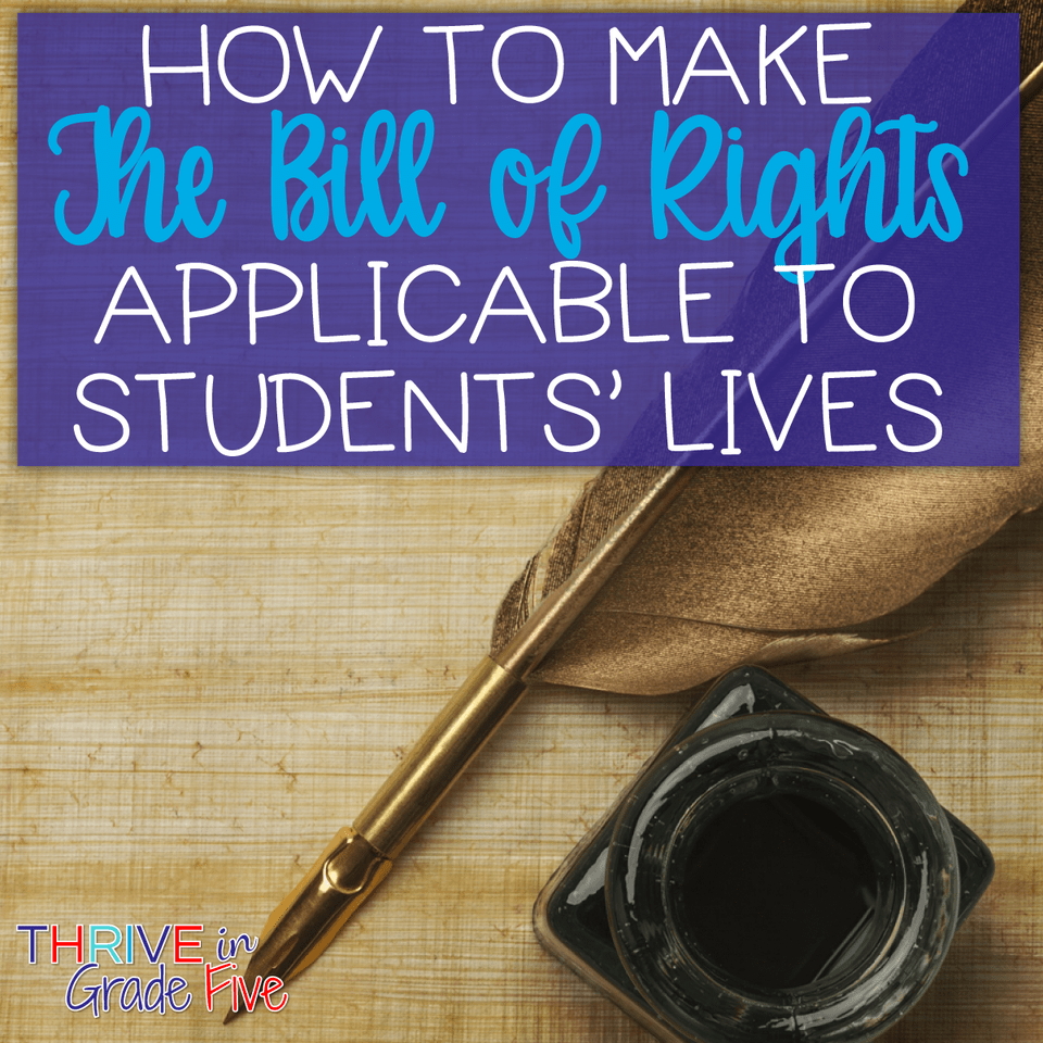 medium resolution of Making the Bill of Rights Applicable to Students' Lives - Thrive in Grade  Five