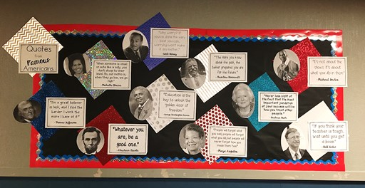 Social Studies Bulletin Board Idea: Quotes from Famous Americans
