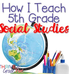 How I Teach 5th Grade Social Studies - Thrive in Grade Five [ 1601 x 1601 Pixel ]