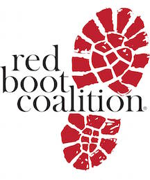 Logo for the Red Boot Coalition