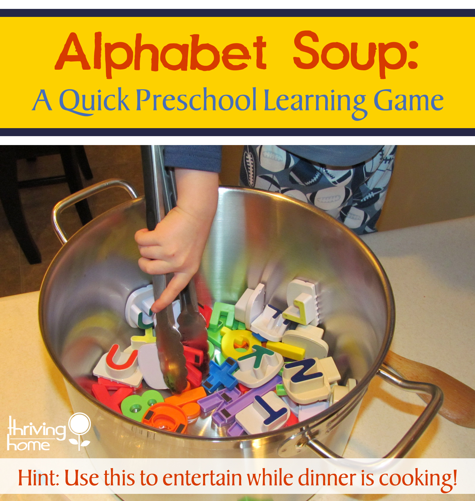 Alphabet Soup Preschool Learning Game
