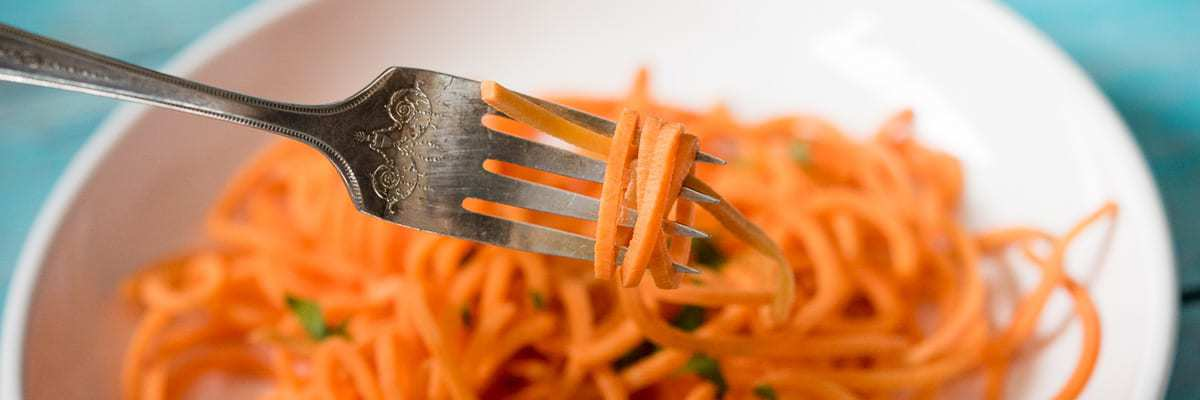 Sweet Potato Noodles tutorial by Thriving On Paleo