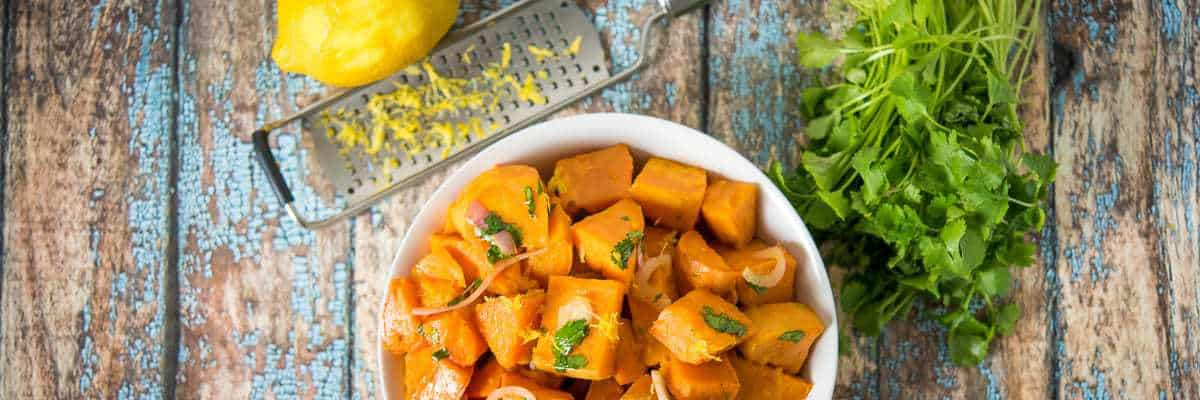 Roasted Sweet Potatoes with Citrus Dressing from Make It Paleo 2