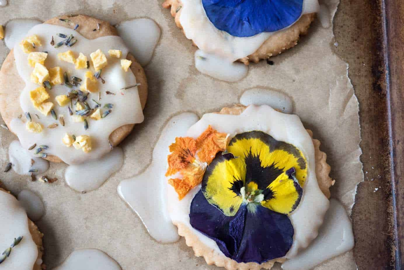 AIP Lavender Shortbread Cookies by Thriving On Paleo