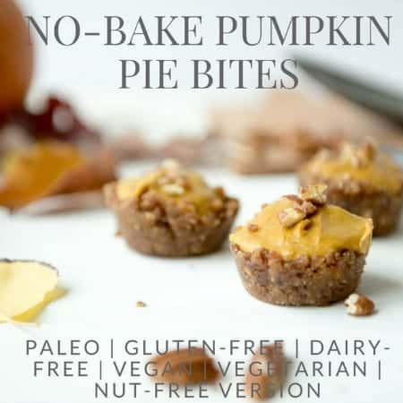 No-Bake Pumpkin Pie Bites