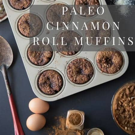 Cinnamon muffins in a pan