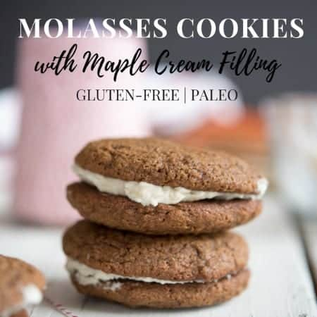 Paleo gluten-free MOLASSES COOKIES recipe