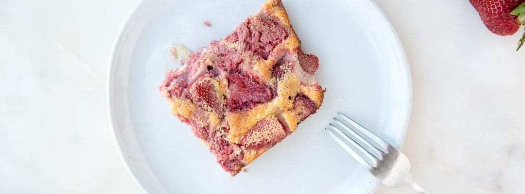 Paleo Strawberry Swirl Clafoutis
