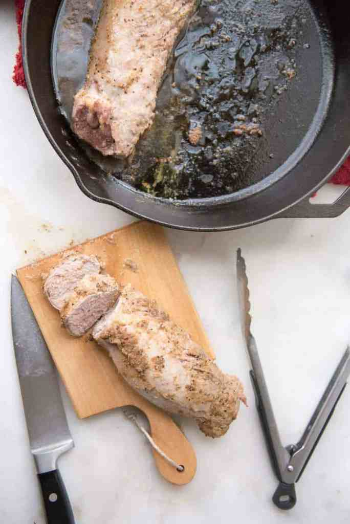 This Paleo Mustard & Fennel Roast Pork Tenderloin recipe is a delicious fall or winter dinner. This main dish recipe is gluten-free, Whole30-compliant, and dairy-free. #paleo #pork #recipe #gluten-free #whole30