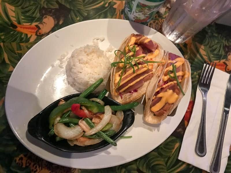 Eating gluten-free at Disneyland- Travel Day, Rainforest Cafe at Downtown Disney