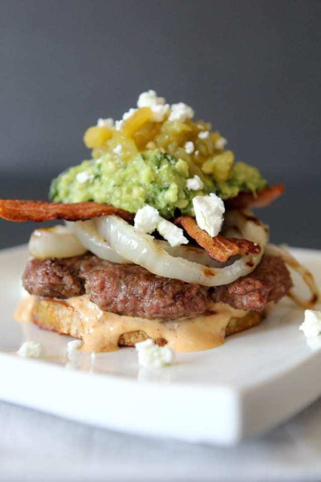 Green Chili + Chipotle Mayo Burger