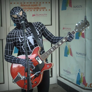 spiderman busking 4