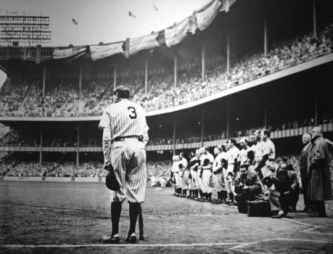 Babe Ruth Retires in Front of Adoring Crowd