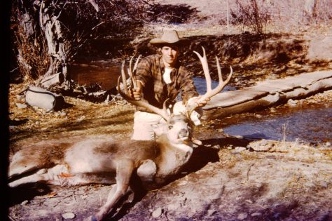 "Vintage photo of what looks to be a 30"" plus trophy mule deer, taken in Nevada during rifle season in the mid 1960's"