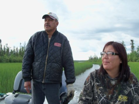 a fishing guide on the water at silsby lake lodge manitoba canada