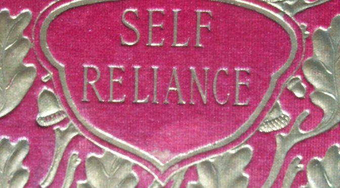 Fine Binding - Self Reliance - Ralph Waldo Emerson