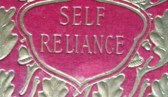 A Fine, Decorative Binding of Self Reliance by Ralph Waldo Emerson. From The collection of Michael Patrick McCarty