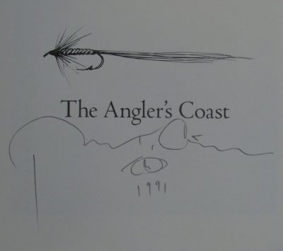Russell Chatham Autograph Signature. The Angler's Coast.