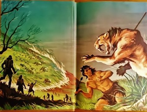The Endpaper Art From a First Edition Copy of Fire-Hunter By Jim Kjelgaard. Illustrated by Ralph Ray. From The Book Collection of Michael Patrick McCarty
