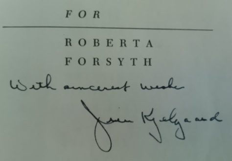An Autographed Copy of A First Edition of Wild Trek by Jim Kjelgaard. Dedicated to Roberta Forsyth, One of The Author's Teachers. A Unique Association Copy.