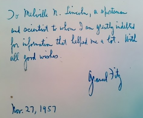 A Rare Autograph and Inscription of Grancel Fitz, From a Signed Copy of His Book North American Head Hunting