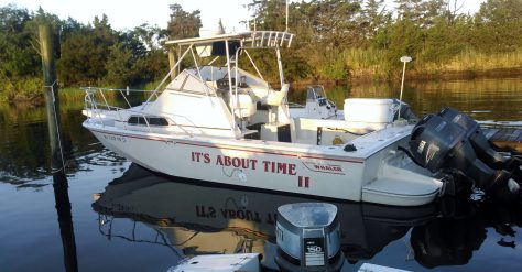 It's About Time II. A Boston Whaler Owned By Kevin McCarty, Tuckerton, New Jersey. Built for Fishing.