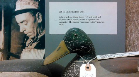A Mallard Drake Decoy by John Updike of Green Bank, New Jersey. Displayed at The Tuckerton Seaport and Baymen's Museum in Tuckerton, New Jersey. New Jersey Decoys Rule!