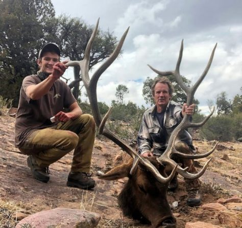 A Big Game Hunter Poses with the Antlers of a Trophy Bull Elk, Taken in a Quality Management Unit in Western Colorado