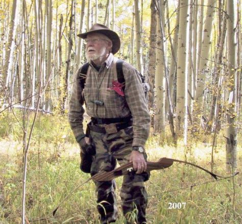 Joe McManus,  A Master Bowhunter From Virginia, With His Favorite Recurve Bow On A Colorado Elk Hunt.