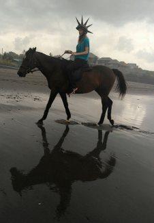 Punk horse rider