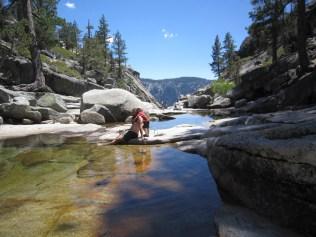 Where Yosemite Creek turns into Yosemite Falls.