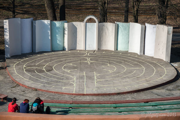 The finished labyrinth