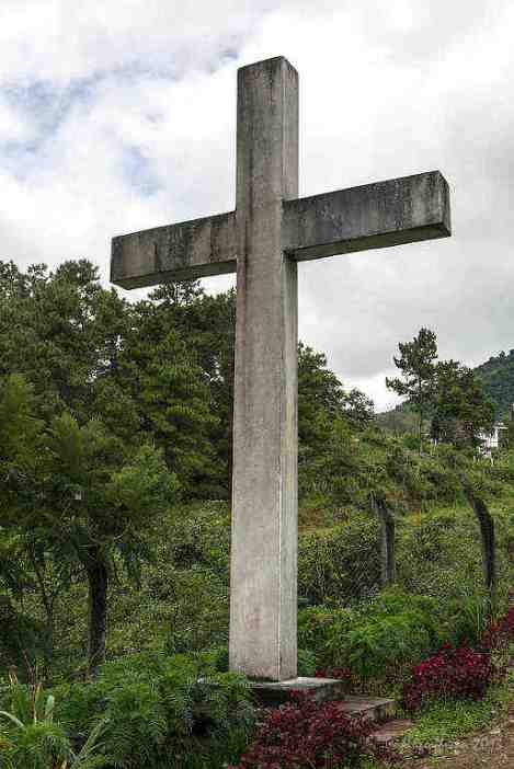 Cross at memorial