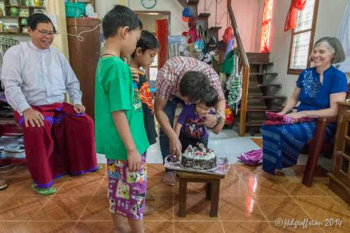 Celebrating a family birthday