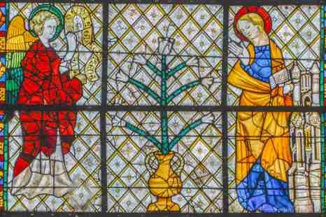 14th Century Grisaille Window, Deambulatoire