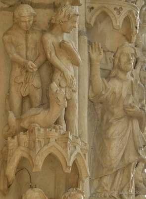 Adam blames Eve, Eve blames the serpent