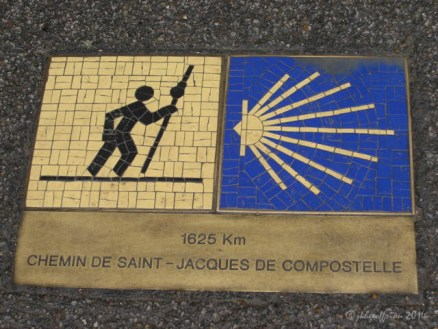Camino marker at the Chartres Cathedral