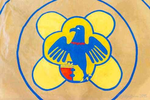 Center details: Eagle (representing St. John) & Bible