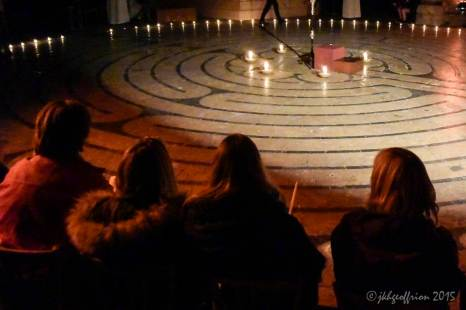 Chartres Cathedral Labyrinth, Easter Night 2015