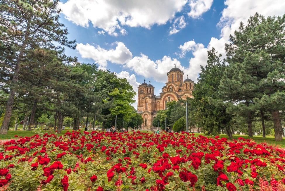 Cveće i crkva Svetog Marka