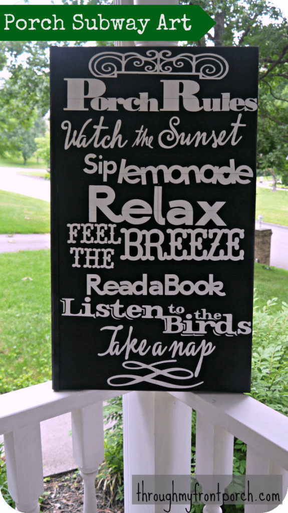 Porch Rules Sign Tutorial