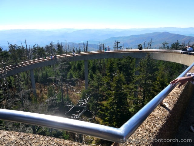 Walking up to Clingman's Dome