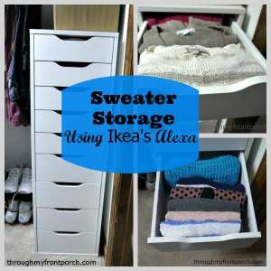 Sweater Storage Using Ikea's Alexa Tower