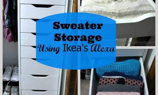 Sweater Storage Using Ikea's Alexa Tower