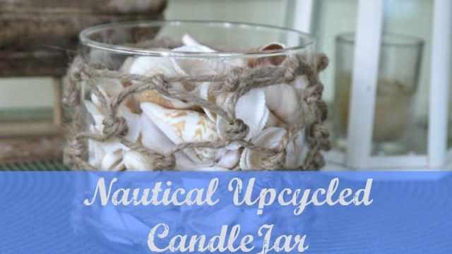 Nautical Upcycled Candle Jar DIY