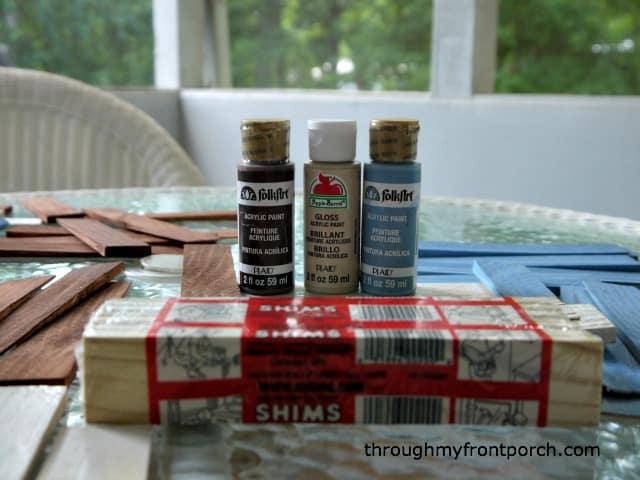 Wood Shim Art Supplies