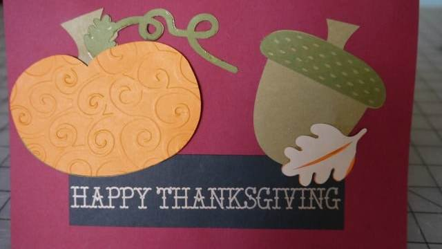 DIY  Thanksgiving Cards with Cricut Explore