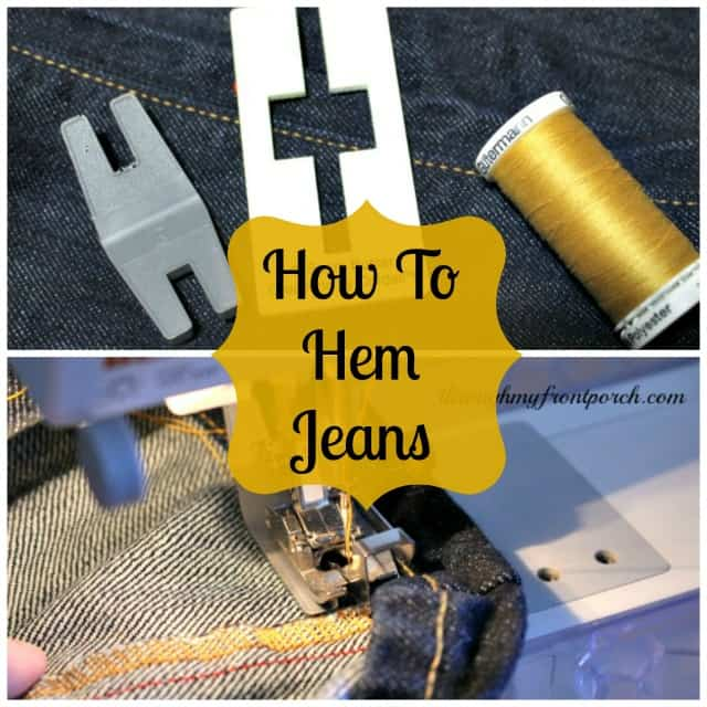 No Fuss Way To Hem Jeans By Sewing