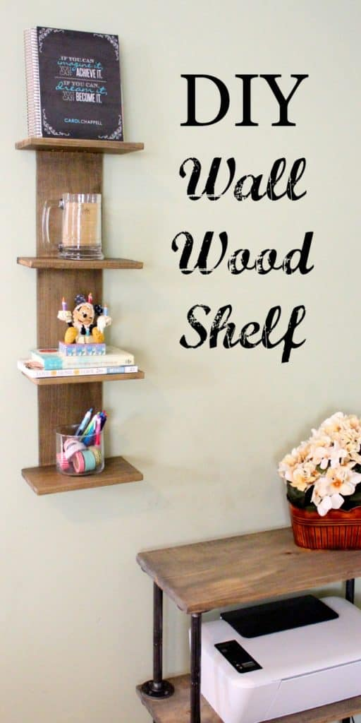 diy easy wood shelf for my office corner